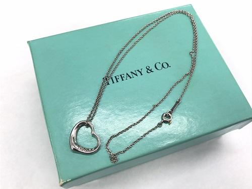 ティファニー(Tiffany)オープンハートネックレス プラチナ ブランドジュエリー 京都大宮