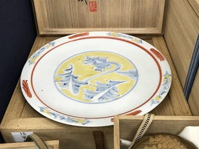 富本憲吉買取 白磁絵付け大皿 陶磁器買取 工芸品買取 マルカ(MARUKA)出張買取