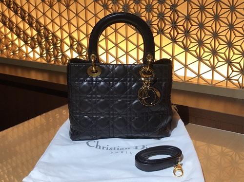 クリスチャンディオール  Christian Dior レディディオール レザー ブラック 買取 渋谷