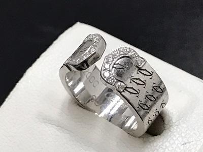 Cartier カルティエ C2リング 2000年限定 750WG ホワイトゴールド ダイヤ入り 高価買取 七条店