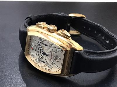 FRANCK MULLER フランクミュラー コンキスタドール 750×革 腕時計 高価買取 七条店