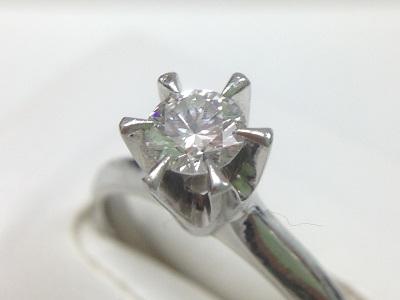 ダイヤモンドリング 0.43ct ラウンドブリリアントカット Pt900 ダイヤモンド買取 神戸 三宮 元町