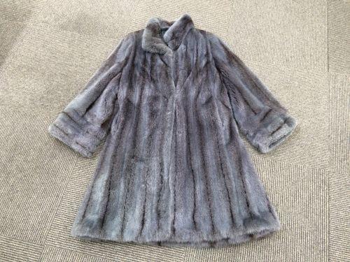 毛皮 コート ミンク サガロイヤルミンク シェアードミンク グレー