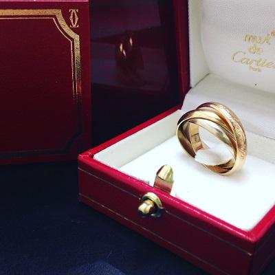 カルティエ (Cartier) トリニティリング 750 高価買取り渋谷マルカMARUKA