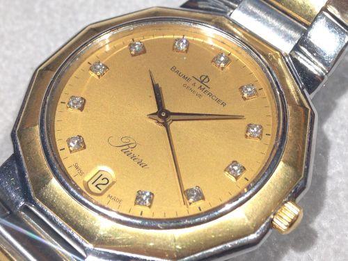 ボーム&メルシエ リビエラ 腕時計 SS×YG メンズ ダイアモンド マルカ 四条烏丸店 高価買取
