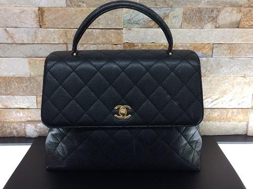 シャネル買取 ハンドバッグ キャビアスキン買取 マトラッセ買取 黒 旧型 MARUKA 京都北山店 ブランドバッグを売るなら!