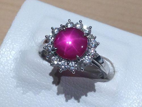 スターサファイア サファイア(SAPPHIRE) ダイヤモンド(DIAMOND) リング 指輪