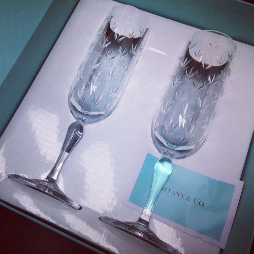 TIFANNY&Co ティファニー ペア シャンパングラス 高価買取り 食器