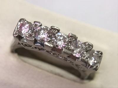 ダイヤモンド 1.00ct 一文字 リング PT900 ダイヤモンド買取 神戸 三宮 元町