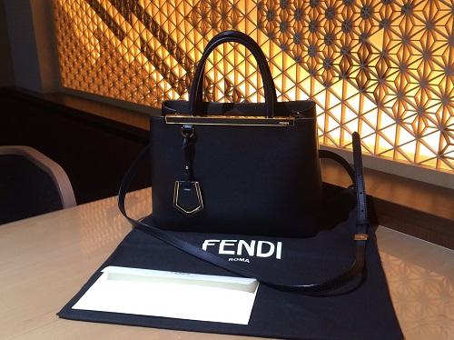 フェンディ FENDI プチトゥージュール 2wayバッグ レザー ブラック 買取 渋谷