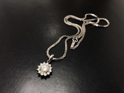 ダイヤモンド 1.02ct メレダイヤモンド 0.36ct ネックレス Pt850 プラチナ 宝石 高価買取 七条店