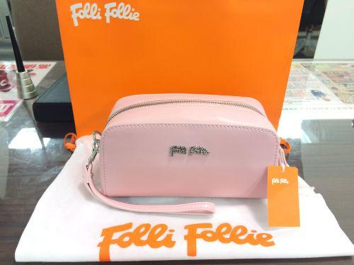 フォリフォリ(FOLLI FOLLIE )ポーチ セカンドバッグ レザー ピンク 未使用品 マルカ 出張買取