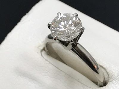 ダイヤモンド 1.63ct リング Pt850 プラチナ 宝石 高価買取 七条店