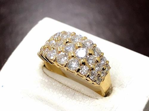 ダイヤモンドリング イエローゴールド 18金 750 石目無し 宝石買取 京都大宮店