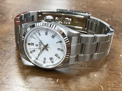 ROLEX ロレックス オイスターパーペチュアル Ref.67514 白文字盤 腕時計 高価買取 七条店