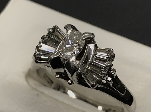 ダイヤモンドプラチナリング買取 0.45ct 0.29ct 宝石買取 ダイヤモンド買取 マルカ(MARUKA)心斎橋店