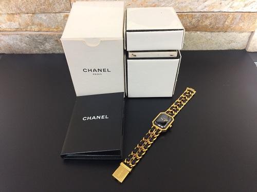 シャネル(CHANEL)買取 プルミエール GP×レザー レディース時計買取 付属品完備 MARUKA 京都北山店 シャネル時計の高額買取はマルカ