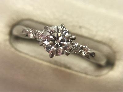 ダイヤモンド リング 0.408ct 0.085ct PT950 ダイヤモンド買取 神戸 三宮 元町