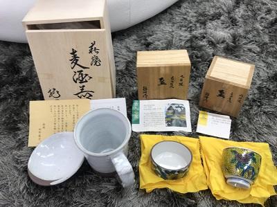 和食器 九谷焼 盃 萩焼 麦酒器 骨董品買取 神戸 三宮 元町