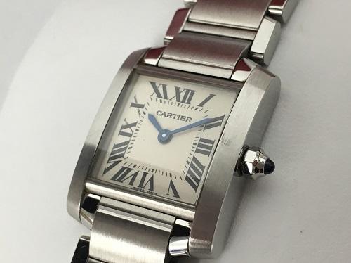 カルティエ(Cartier)買取 タンクフラセーズSM W5100803 2384 白文字盤 保証書有 神戸三宮
