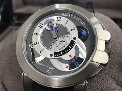 ハリー・ウィンストン HARRY WINSTON 買取オーシャン プロジェクトZ6 アラーム 400/MMAC44ZCK グレー/シルバー文字盤 メンズ 腕時計