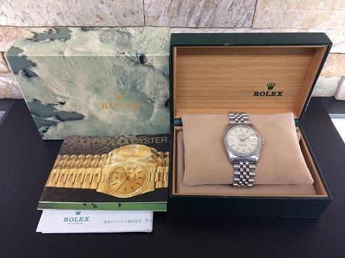 ロレックス(ROLEX)買取 デイトジャスト買取 16220 SS×WG 付属品有 腕時計買取 MARUKA 京都北山店 時計を売るなら