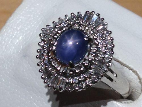 スターサファイア(SAPPHIRE) リング ダイヤモンド(DIAMOND) Pt プラチナ