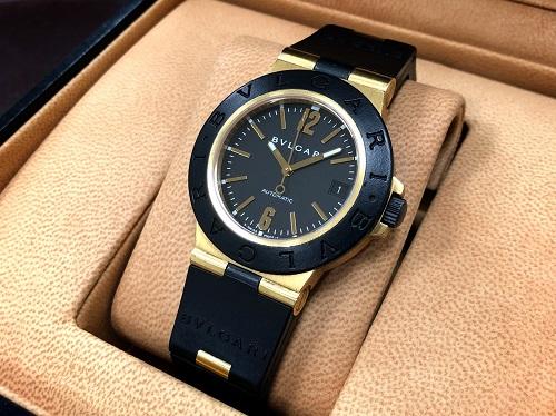 ブルガリ(BVLGARI)買取 ディアゴノ アルミニウム イエローゴールド×ラバー 時計買取 京都大宮店