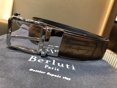 ベルルッティ(BERLUTI)買取 リバーシブルベルト カリグラフィー サイズ90