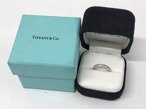 ティファニー買取 TIFFANY&CO買取 ハーフエタニティリング Pt950 ダイヤモンド プラチナ買取 渋谷