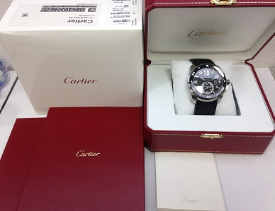 Cartier買取 カリブルドゥカルティエ ダイバー買取  W7100056 箱 保証書付 神戸買取 三宮買取 元町買取