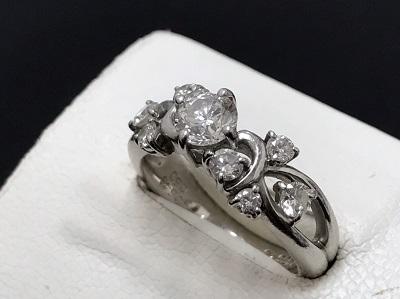 ダイヤモンド買取り 0.548ct リング Pt900 プラチナ買取り 宝石買取り 高価買取 七条店