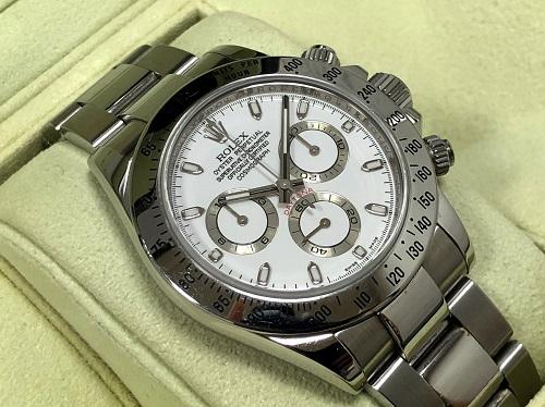 ロレックス買取 コスモグラフデイトナ 116520 Z番 白文字盤 時計買取 中古品 京都大宮 西院