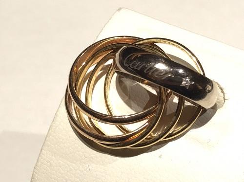 カルティエk買取 トリニティラベルリング 750 ダイヤモンド ブランドジュエリー買取 京都