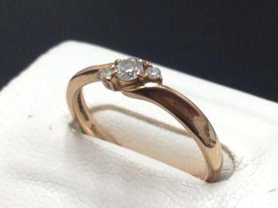 Star JEWELRY スタージュエリー ダイヤモンドリング 0.15ct K18 高価買取 京都 七条