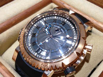 ブレゲ Breguet マリーンロイヤル RG PG ラバー 5847 高級腕時計 東京 銀座 高価買取