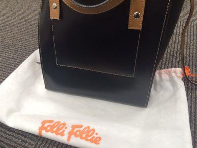 Folli Follie フォリフォリ ハンドバッグ レザー ブラック MARUKA銀座本店 出張買取 東京 高額買取