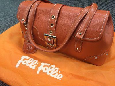 Folli Follie フォリフォリ ショルダーバッグ レザー オレンジ MARUKA銀座本店 出張買取 東京 高額買取