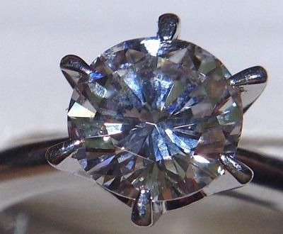 プラチナPt900ソリテールダイヤモンド0.85ct リング渋谷 宝石 高額 買取 新宿