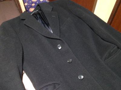 アルマーニコレッツィオーニ ARMANI COLLEZIONI ロングコート ウール ブラック メンズ