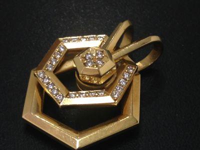 WALTHAM ウォルサム ダイヤペンダントトップ 高価買取 ダイヤモンド K18 京都 七条