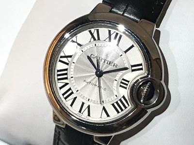 カルティエ買取 バロンブルー 時計買取 機械式 時計買取 SS/AT渋谷