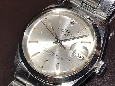 ロレックス買取 オイスターパーペチュアルデイト 1500 SS 時計買取 京都 四条烏丸 河原町