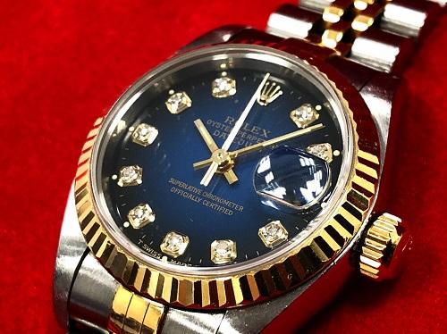 ロレックス買取 デイトジャスト 69178G ブルーグラデーション ダイヤインデックス 京都 大宮 西院 時計買取