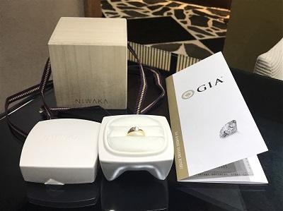 俄買取 ニワカ買取 ダイヤモンドリング 0.5CT(D-FL-3EX)ダイヤモンド買取