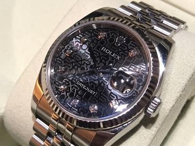 ロレックス買取 デイトジャスト買取 116234G 10Pダイヤ 渋谷時計買取