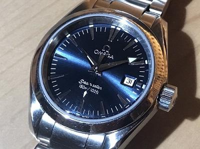 オメガ買取 シーマスターアクアテラ買取 2577.80 SS レディース 時計買取 渋谷