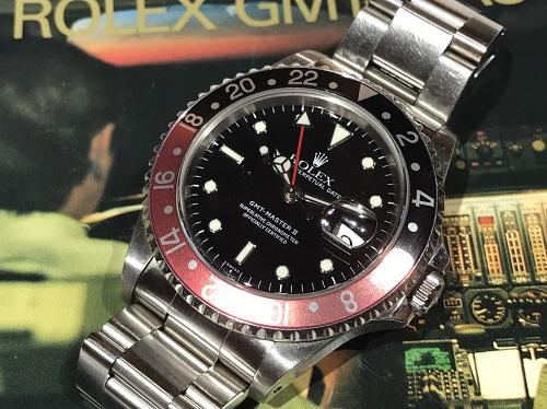 ロレックス買取 GMTマスターⅡ 16710 黒赤ベゼル 時計買取 京都 四条 大宮 西院