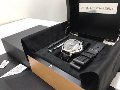 パネライ買取 ルミノールGMT買取 PAM00321 腕時計 高価買取 七条店