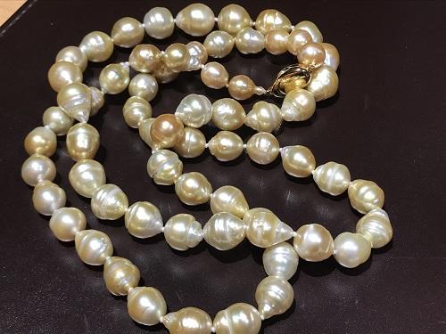 ゴールデンパール 南洋真珠 ネックレス 宝石